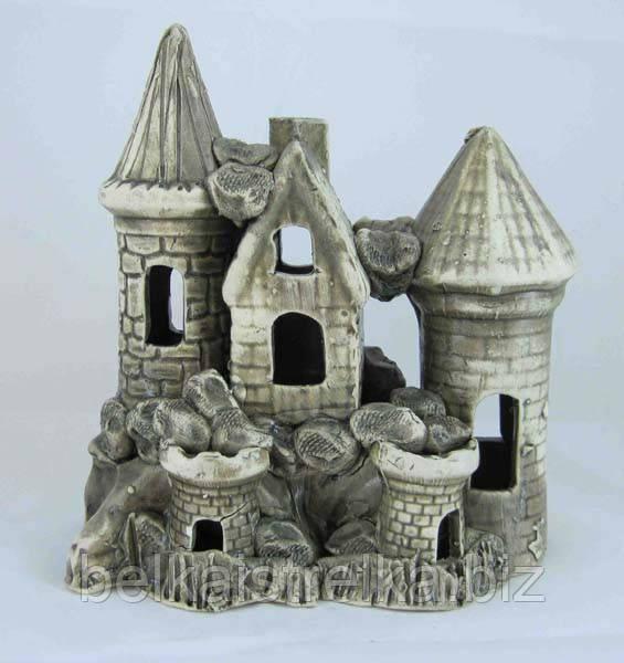 Керамика для аквариума Замок средний, 18х20 см.