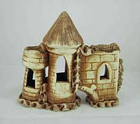 Керамика для аквариума Замок-крепость, 18х16 см.