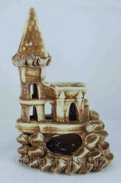 Керамика для аквариума Замок малый, 12х20 см.
