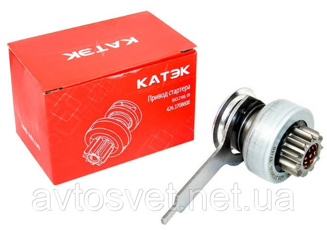 Привод стартера (бендикс) ВАЗ 2108,09 (с вилкой) на стартер БАТЭ 426-й (пр-во КАТЭК,Россия) 426.3708600