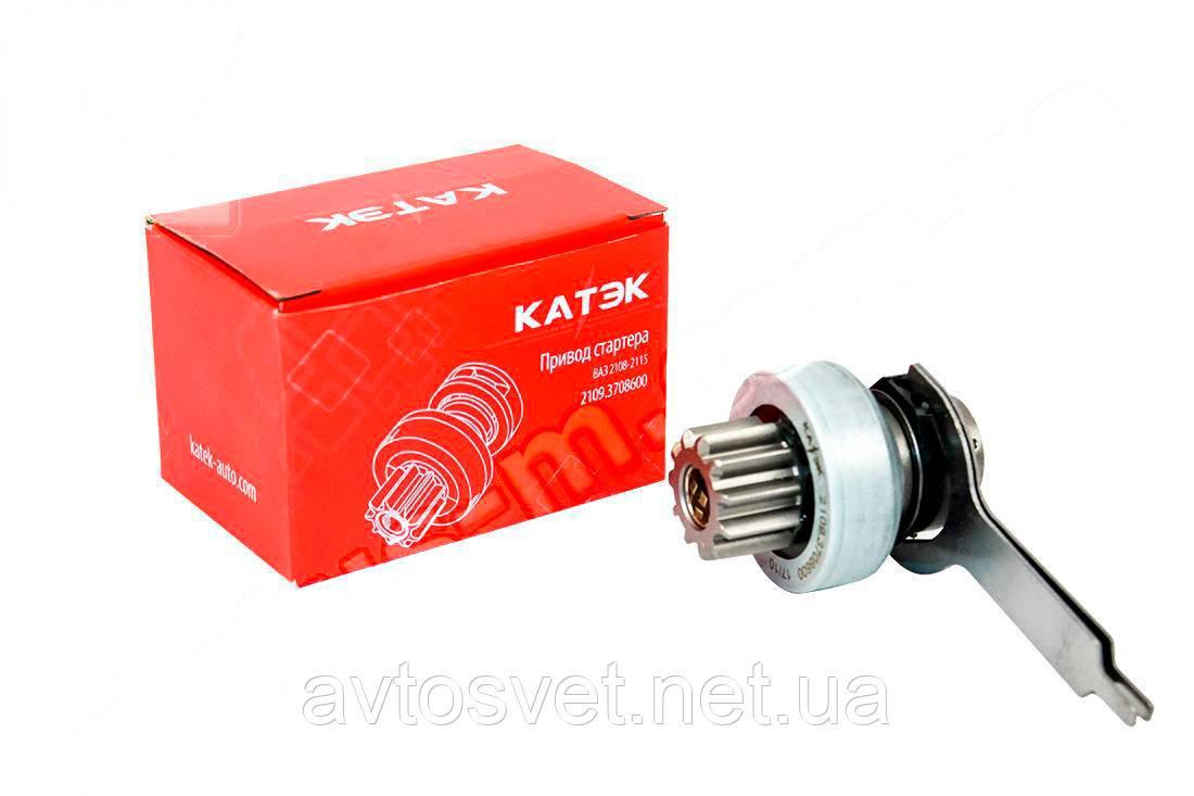 Привод стартера (бендикс) ВАЗ 2108-2115 (с вилкой) на стартер БАТЭ с магнит. (пр-во КАТЭК,Россия) 2109.3708600