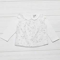 Кофта для девочки с длинным рукавом, демисезонная, на 3-х пуговицах, рисунок Сердечки,  Breeze (размер 80)