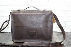 Портфель из натуральной кожи Коричневый  40105, фото 3