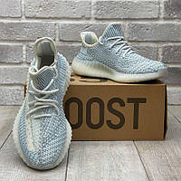 Adidas Yeezy Boost 350 v2 Cloud White Reflective   кроссовки мужские; летние/весенние; серые/голубые рефлектив