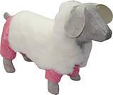 Зимний комбинезон для собак Зайка такса 47х56 (флис, синтепон), фото 2