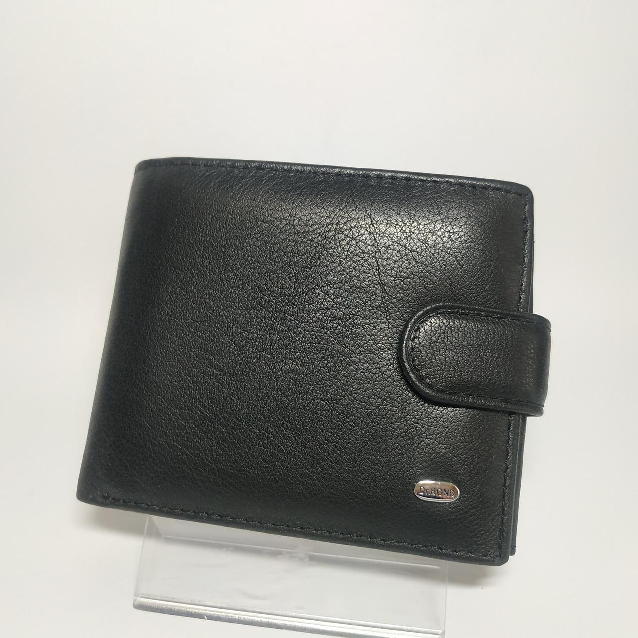 Шкіряний чоловічий гаманець / Кожаный мужской кошелек dr.BOND MS-15 Black