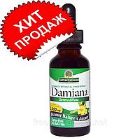 Nature's Answer, Дамиана, без спирта, 2000 мг, 1 жидкая унция 30 мл