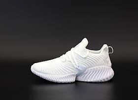 Мужские кроссовки Adidas Alphabounce Instinct White, мужские кроссовки адидас альфабаунс инстинкт белые