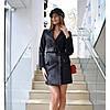Платье-пиджак с широким поясом, фото 2