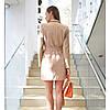 Платье-пиджак с широким поясом, фото 4