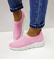 Модные женские кроссовки розовые Violeta