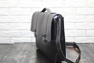 Портфель из натуральной кожи Черный 40110, фото 2