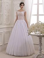 Изысканное и стильное А - силуэтное свадебное платье