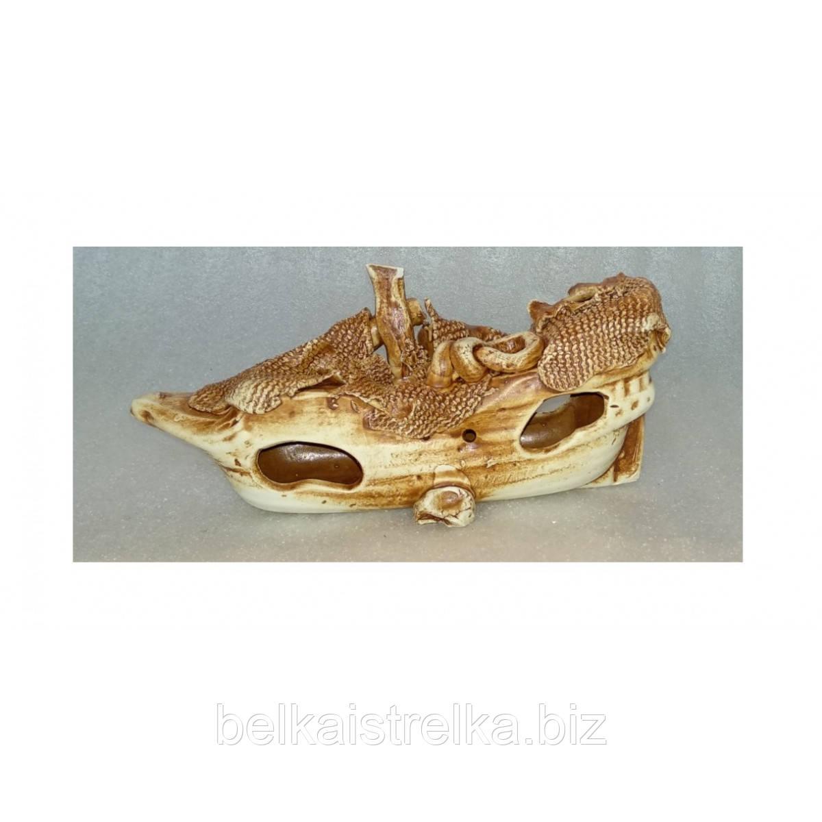 Керамика для аквариума Кораблик средний, 23х9х10 см