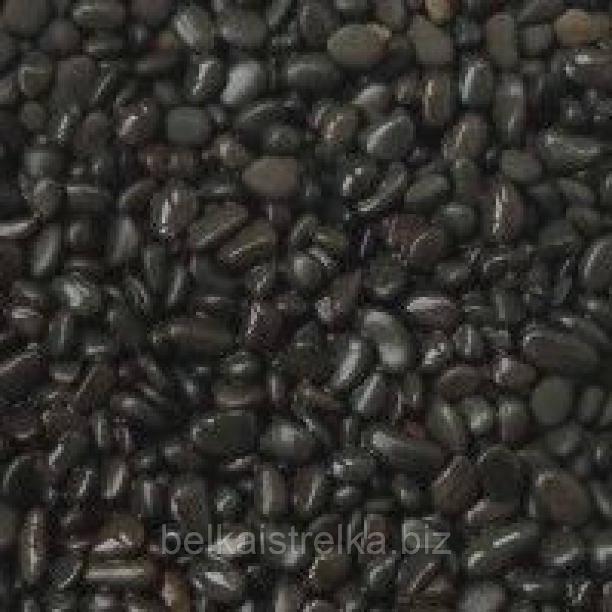 Грунт натуральный Черная галька 10-15 мм 20 кг