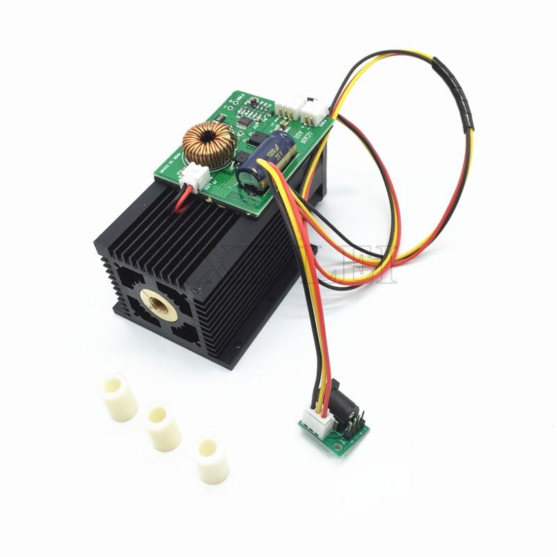 Лазерний модуль 10 Вт. Лазер 10 Вт. Лазерна головка. Плата TTL - в комплекті