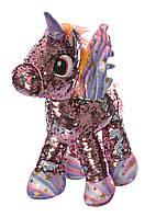 Мягкая игрушка  Лошадь, Единорог  с пайетками МР1907