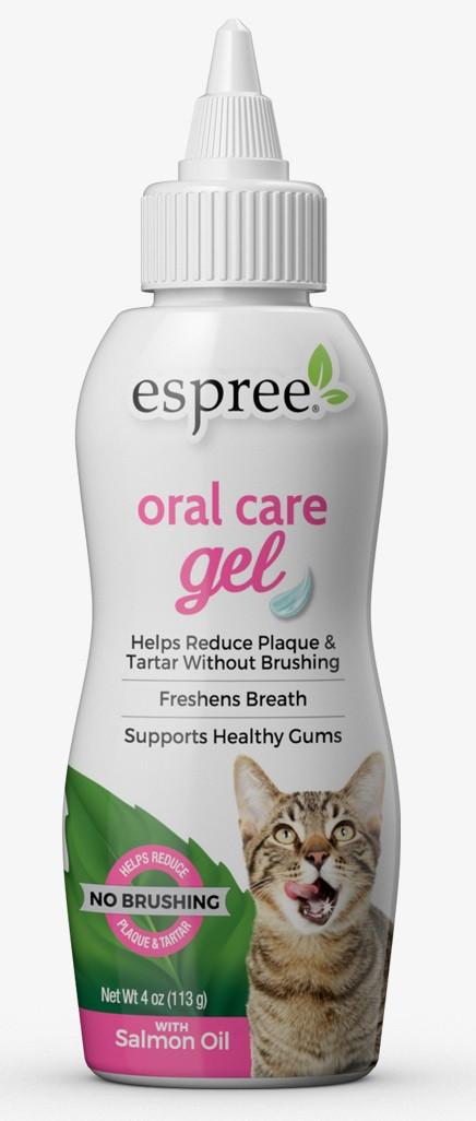 Гель для ухода за зубами кошек без чистки Espree Oral Care Gel Salmon со маслом лосося 118 мл