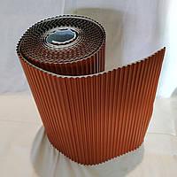 Лента для обработки примыкания алюминиевая Alu Max 300 х 5000 мм кирпичный(8004) (Примыкание дымохода и стене)