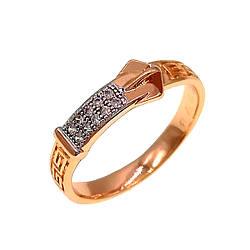 Кольцо Xuping из медицинского золота, белые фианиты, позолота 18K + родий, 11888       (18)