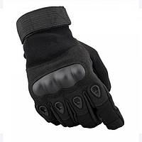 Перчатки тактические полнопалые Oakley Черные/Олива, фото 1
