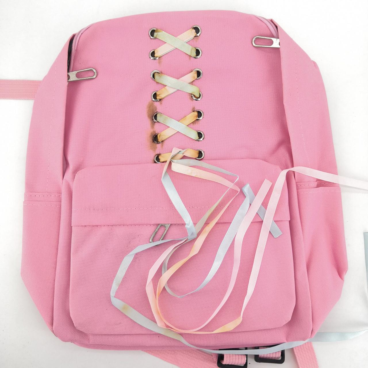 Уценка. Розовый рюкзак с лентами