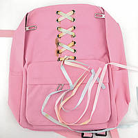 Уценка. Розовый рюкзак с лентами, фото 1