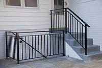 Перила металлические изящные современные Изготовление перил лестниц