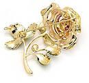 Красивая брошь   цветок роза  с кристаллами и эмалью., фото 2