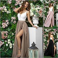 Р 42-46 Нарядное длинное платье с высоким разрезом 21269, фото 1