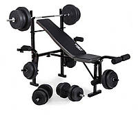 Скамья с тренажерами + набор силовой на 90 кг , фото 1
