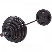 Штанга RN-sport олімпійська, обгумована 135 кг, гриф 2.2 м - 50 мм, фото 1