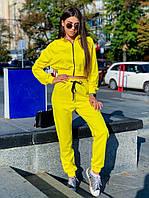 Яркий спортивный костюм из джерси с укороченной курткой на молнии. 2цвета  р.С-М, Код 7132К