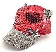 Детская бейсболка кепка с 52 по 56 размер детские бейсболки кепки с сеткой для девочки летняя, фото 1