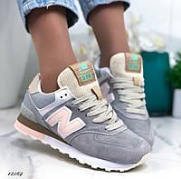 Подростковые кроссовки New Balance 574 Dark Grey / Pink 40 - на ногу 25.5см до 26см будет максимум в притык