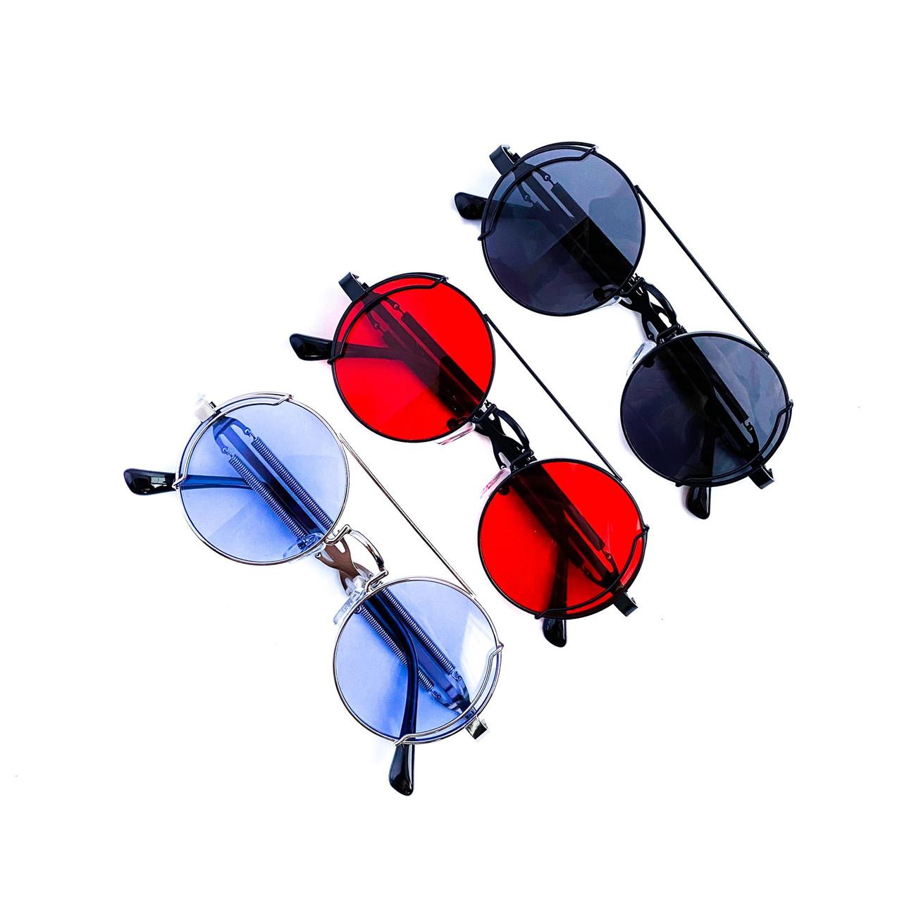 Стильные круглые очки в узкой металлической оправе tez6917Oh