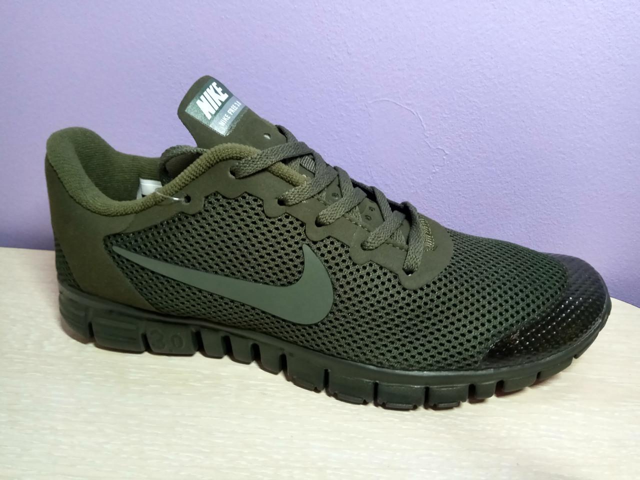 Мужские кроссовки в стиле найк Free Run 3.0 V2 Green хаки