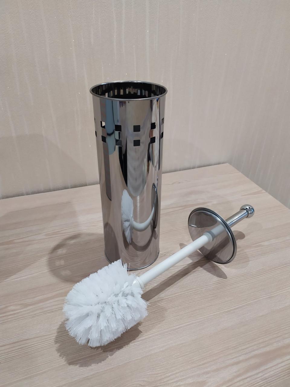 Ершик для унитаза напольный (металл, хром) Potato P321-1