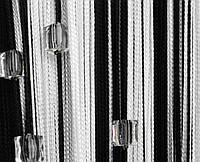 Шторы нити с камнями стеклярус 3-2,8м