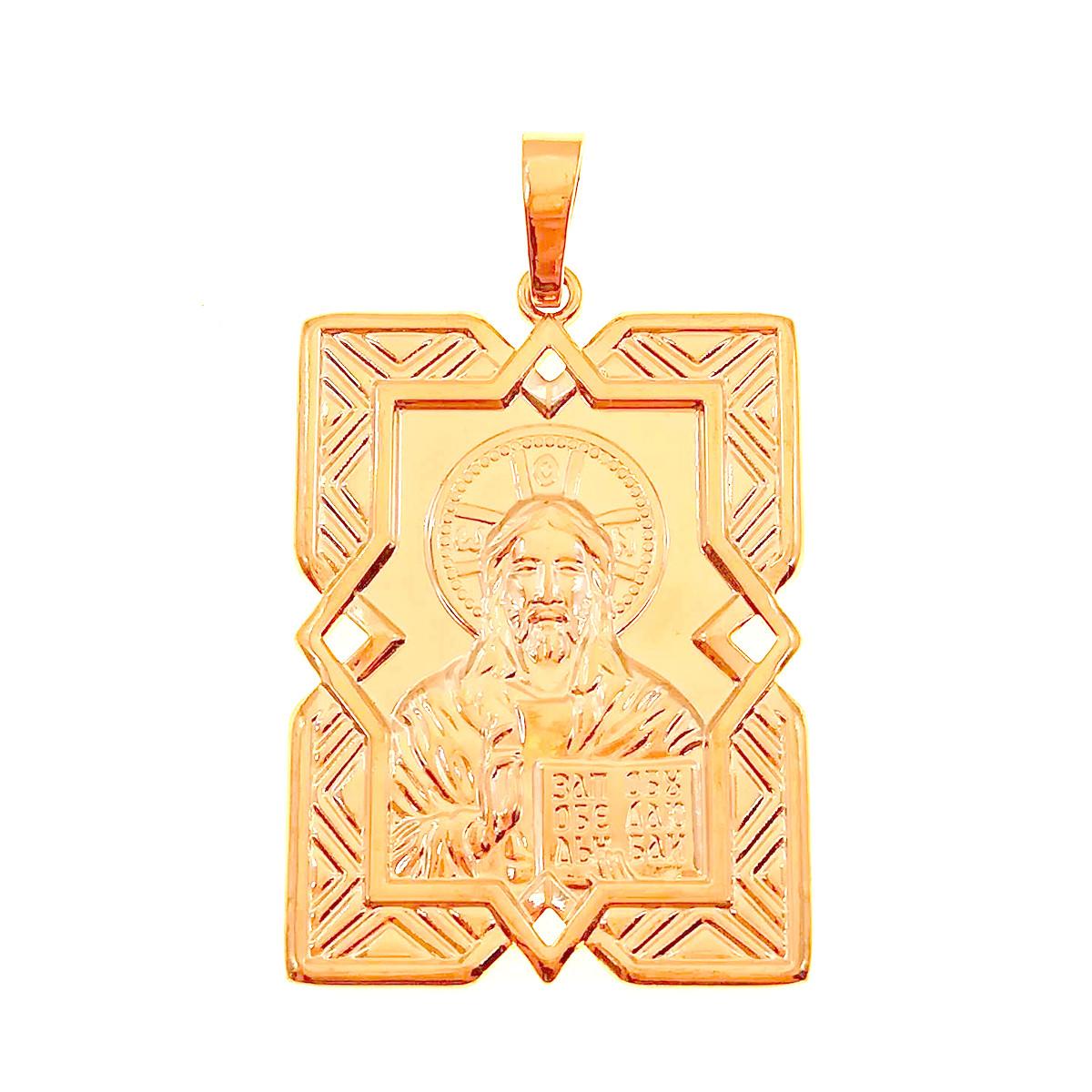 """Иконка Xuping """"Господь Вседержитель"""" из медицинского золота, позолота 18K + родий, 42458                               (1)"""