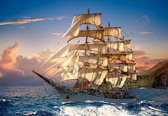 Пазлы на 1500 элементов Парусник на закате (корабль), (Castorland, Польша)