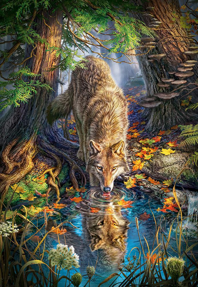 Пазлы на 1500 элементов Волк (животные), (Castorland, Польша)