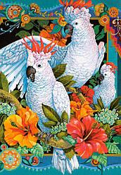 Пазлы на 1500 элементов Белые попугаи (птицы), (Castorland, Польша)