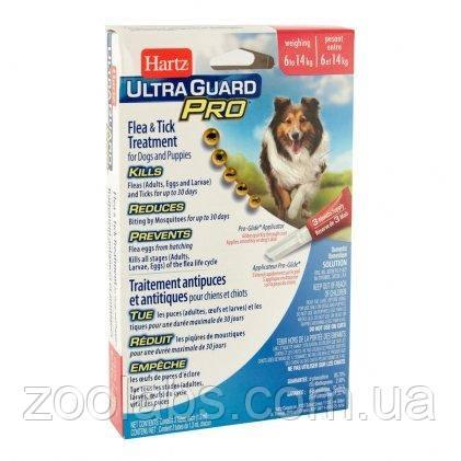 Капли от клещей и блох для собак Hartz Ultra Guard Pro (вес собаки 6-14 кг; 3 пипетки)