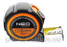 Рулетка NEO, стальная лента 3 м x 16 мм, магнит