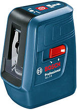 Нивелир лазерный Bosch Professional  GLL 3 X, точность ± 0.5 мм на 1 м  , до 15  м, 0.5 кг