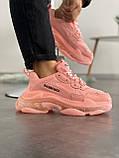 Женские кроссовки Balenciaga Triple S Pink, фото 2