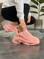 Женские кроссовки Balenciaga Triple S Pink, фото 1