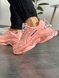 Женские кроссовки Balenciaga Triple S Pink, фото 3