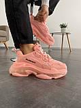 Женские кроссовки Balenciaga Triple S Pink, фото 8